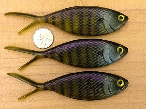 Black Dog Baits Fake Fish - Shimmy Shad - Bluegill